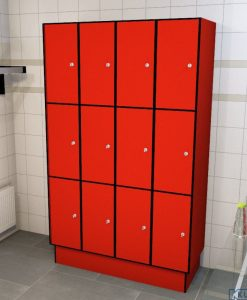 0210 3 TL 300 lockers 12 doors Solid Grade Laminate