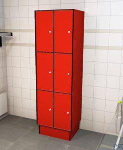 0210 3 TL 300 lockers 6 doors Solid Grade Laminate