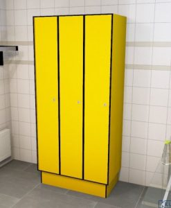 0212 1 TL 300 lockers 3 door solid grade laminate