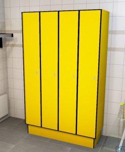 0212 1 TL 400 lockers 4 door solid grade laminate