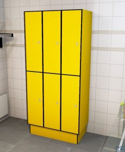 0212 2 TL 400 Lockers 6 Door Solid Grade Laminate