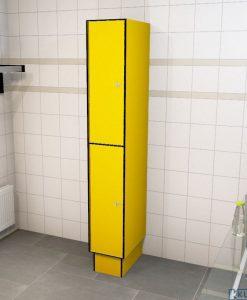 0212 2 TL 400 lockers 2 door solid grade laminate