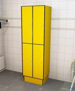 0212 2 TL 400 lockers 4 door solid grade laminate