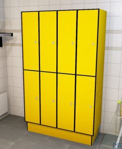 0212 2 TL 400 lockers 8 door solid grade laminate