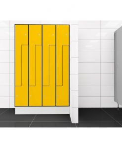 0212 2 TLZ 400 lockers 8 door Solid Grade Laminate