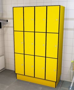 0212 3 TL 300 lockers 12 doors Solid Grade Laminate