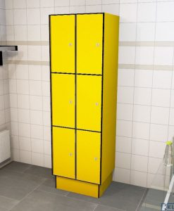 0212 3 TL 300 lockers 6 doors Solid Grade Laminate