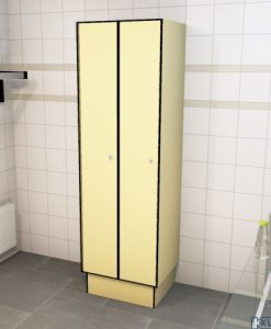 0687 1 TL 400 lockers 2 door solid grade laminate