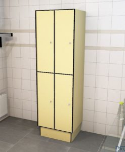 0687 2 TL 300 lockers 4 door solid grade laminate