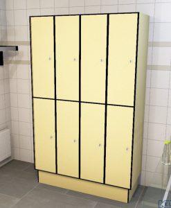 0687 2 TL 300 lockers 8 door solid grade laminate
