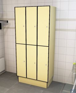 0687 2 TL 400 Lockers 6 Door Solid Grade Laminate