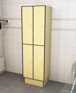0687 2 TL 400 lockers 4 door solid grade laminate