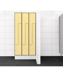 0687 2 TLZ 400 lockers 6 door Solid Grade Laminate