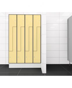 0687 2 TLZ 400 lockers 8 door Solid Grade Laminate