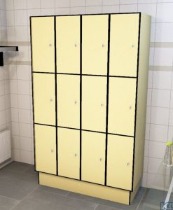 0687 3 TL 300 lockers 12 doors Solid Grade Laminate