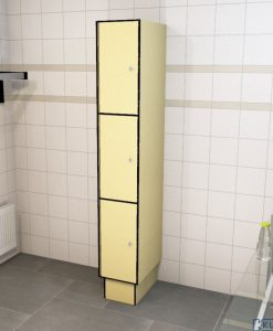 0687 3 TL 300 lockers 3 door Solid Grade Laminate