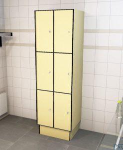 0687 3 TL 300 lockers 6 doors Solid Grade Laminate