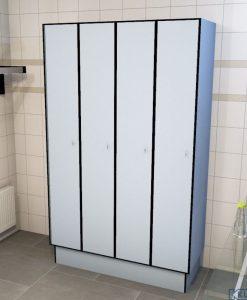 0718 1 TL 400 lockers 4 door solid grade laminate