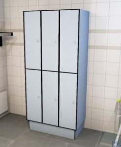 0718 2 TL 400 Lockers 6 Door Solid Grade Laminate