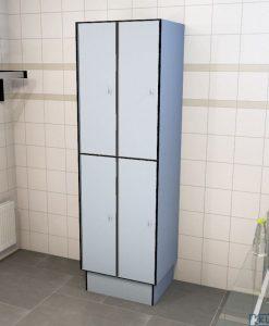 0718 2 TL 400 lockers 4 door solid grade laminate