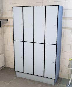 0718 2 TL 400 lockers 8 door solid grade laminate