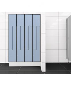 0718 2 TLZ 400 lockers 8 door Solid Grade Laminate