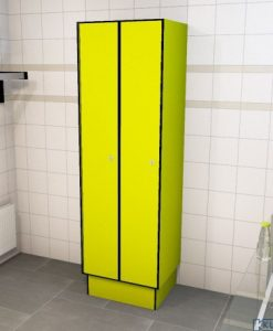 0725 1 TL 400 lockers 2 door solid grade laminate