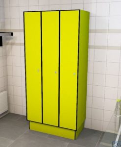 0725 1 TL 400 lockers 3 door solid grade laminate