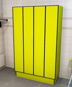 0725 1 TL 400 lockers 4 door solid grade laminate