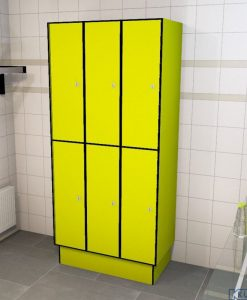 0725 2 TL 400 Lockers 6 Door Solid Grade Laminate