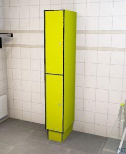 0725 2 TL 400 lockers 2 door solid grade laminate