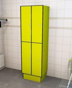 0725 2 TL 400 lockers 4 door solid grade laminate