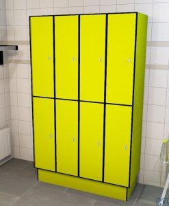 0725 2 TL 400 lockers 8 door solid grade laminate