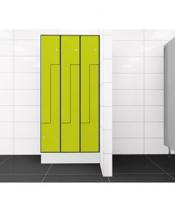 0725 2 TLZ 300 lockers 6 door Solid Grade Laminate