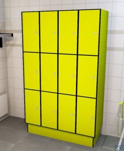 0725 3 TL 300 lockers 12 doors Solid Grade Laminate