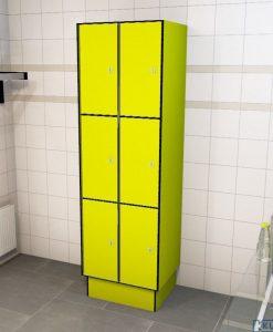 0725 3 TL 300 lockers 6 doors Solid Grade Laminate