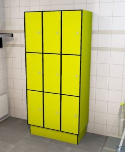 0725 3 TL 300 lockers 9 doors Solid Grade Laminate