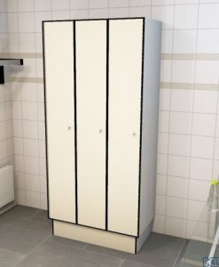 0733 1 TL 300 lockers 3 door solid grade laminate