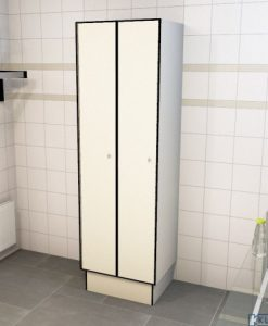 0733 1 TL 400 lockers 2 door solid grade laminate