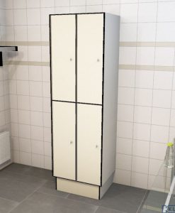 0733 2 TL 300 lockers 4 door solid grade laminate