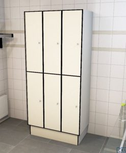 0733 2 TL 400 Lockers 6 Door Solid Grade Laminate