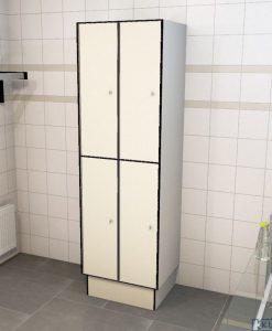 0733 2 TL 400 lockers 4 door solid grade laminate