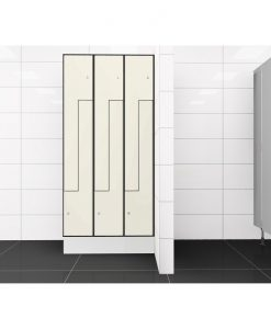 0733 2 TLZ 300 lockers 6 door Solid Grade Laminate