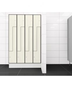 0733 2 TLZ 400 lockers 8 door Solid Grade Laminate