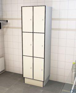0733 3 TL 300 lockers 6 doors Solid Grade Laminate