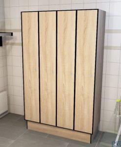 0877 1 TL 400 lockers 4 door solid grade laminate