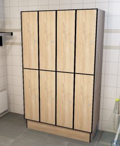 0877 2 TL 300 lockers 8 door solid grade laminate
