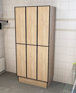 0877 2 TL 400 Lockers 6 Door Solid Grade Laminate
