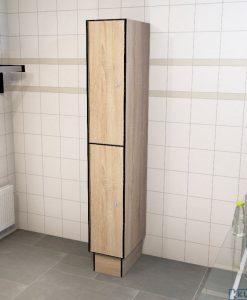 0877 2 TL 400 lockers 2 door solid grade laminate