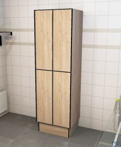 0877 2 TL 400 lockers 4 door solid grade laminate